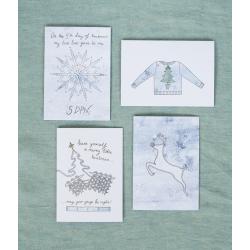 Набор рождественских открыток (4 шт.)