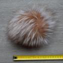 Silver Fox Fur Pompom 18 cm