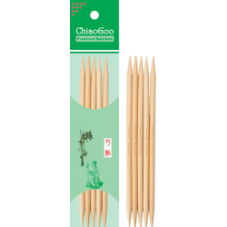 "ChiaoGoo Bamboo Double Points - 5"" (13 cm), Natural Color"
