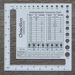 Шкала для спиц с окошком ChiaoGoo