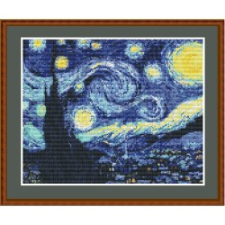 "Simy's Studio Embroidery Kit - Van Gogh ""Starry Night"""