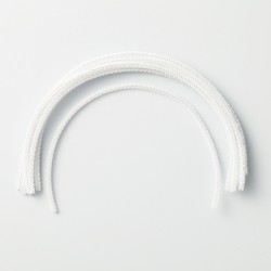Hamanaka Chenille Wire, white, 4 mm