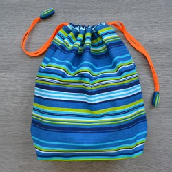 Project bag Blue Stripes