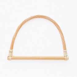 Hamanaka bag handle, rattan