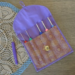 Case for dpns (15 cm) and crochet hooks Violet Dream-SC KnitPro