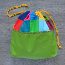 Project bag Patchwork Green