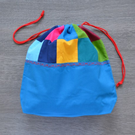 Project bag Patchwork Blue