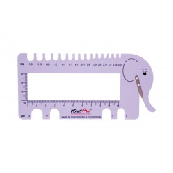 KnitPro Needle Gauge with Yarn Cutter - Lilac