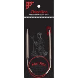 Спицы круговые ChiaoGoo SS Knit RED (40 см)