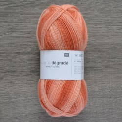 Rico Sock Superba Dégradé - 003 Orange Mix