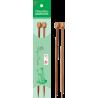 "ChiaoGoo Bamboo Single Points - 13"" (33 cm), Patina"