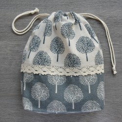 Project bag Trees with Lace