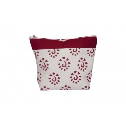 KnitPro Amber Big Zipper Pouch - Burgundy