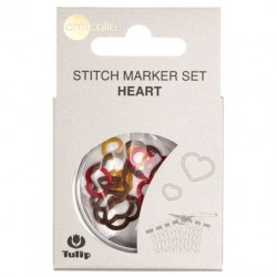 Tulip Stitch Marker Set Heart