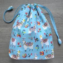 Проектный мешочек Альпаки Голубой