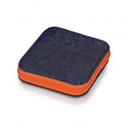 Prym Sewing kit (denim case, orange zip)